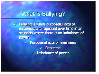 Anti-bullying presentation #1.